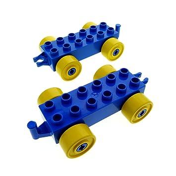 1x Lego Duplo Anhänger Fahrgestell neu-dunkel grau für Ladefläche 47450c01