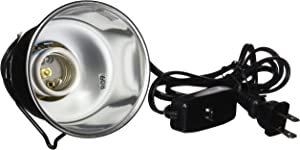 Zoo Med Nano Dome Lamp Fixture, Silver