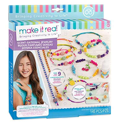 Make It Real - Scent-Sational Jewelry. DIY Scented Charm Bracelet Making Kit for Girls with Fruit Punch Fragrance. Arts and Crafts Kit to Create Unique Tween Bracelets with Beads and Scented Charms: Toys & Games