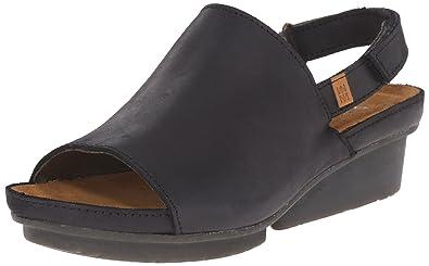 Chaussures à bout ouvert El Naturalista noires femme 4HWOtfG