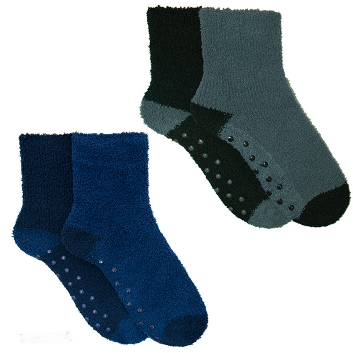 4 Pairs Mens Boys Cosy Socks Slipper Bed Super Soft Fluffy Fleece Warm Thermal Non Slip SK094