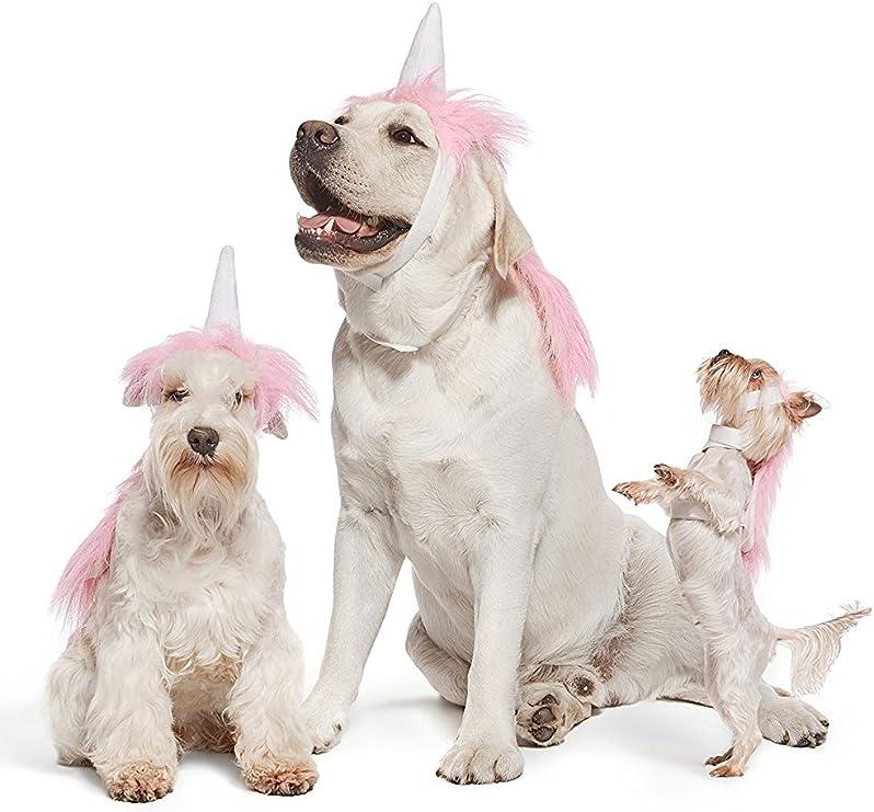 Pet Happing Disfraz de unicornio rosa para perros, cachorros ...