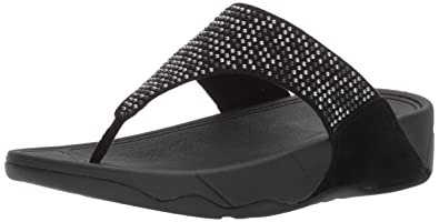 0445025a7c7f FitFlop Women s Lulu Popstud Flip Flop  Buy Online at Low Prices in ...