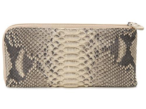 44dbfaf21a60 ロダニア RODANIA 長財布 ダイヤモンド パイソン 薄型 L字ファスナー 財布 キャメル [並行輸入品