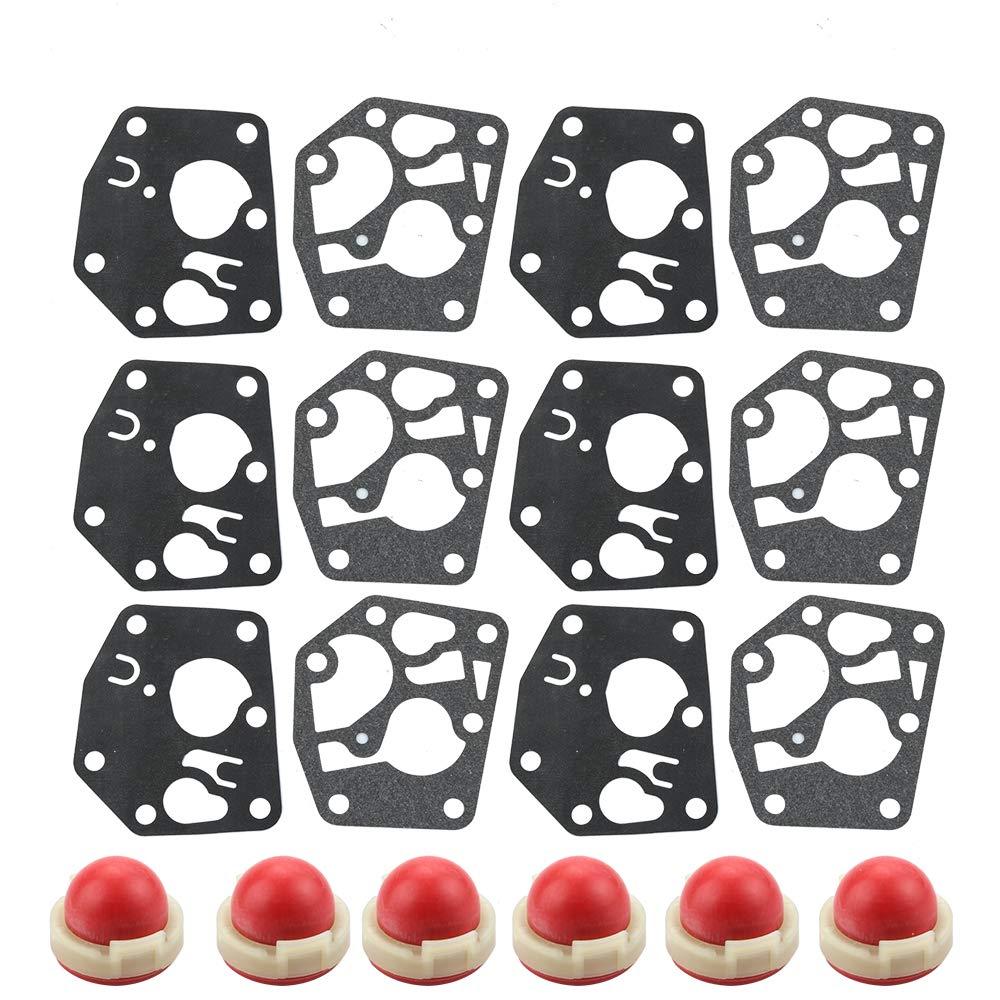 Leopop Pack of 6 Primer Bulb Diaphragm Gasket for Briggs & Stratton 694394 4178 5084H 494408 4128 5084D 495770 5083H 795083 Parts Kit Engine Lawn Mower