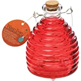 Toland Home Garden Large Tomato Red Pesticide-Free 5.5-Inch Diameter Glass Wasp and Fruit Fly Trap 10245