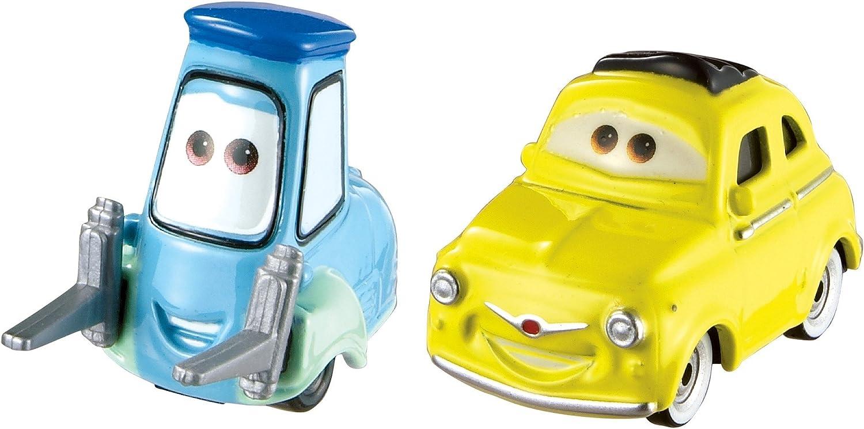 Cars Vehículo Luigi & Guido, coche de juguete (Mattel FJH93)