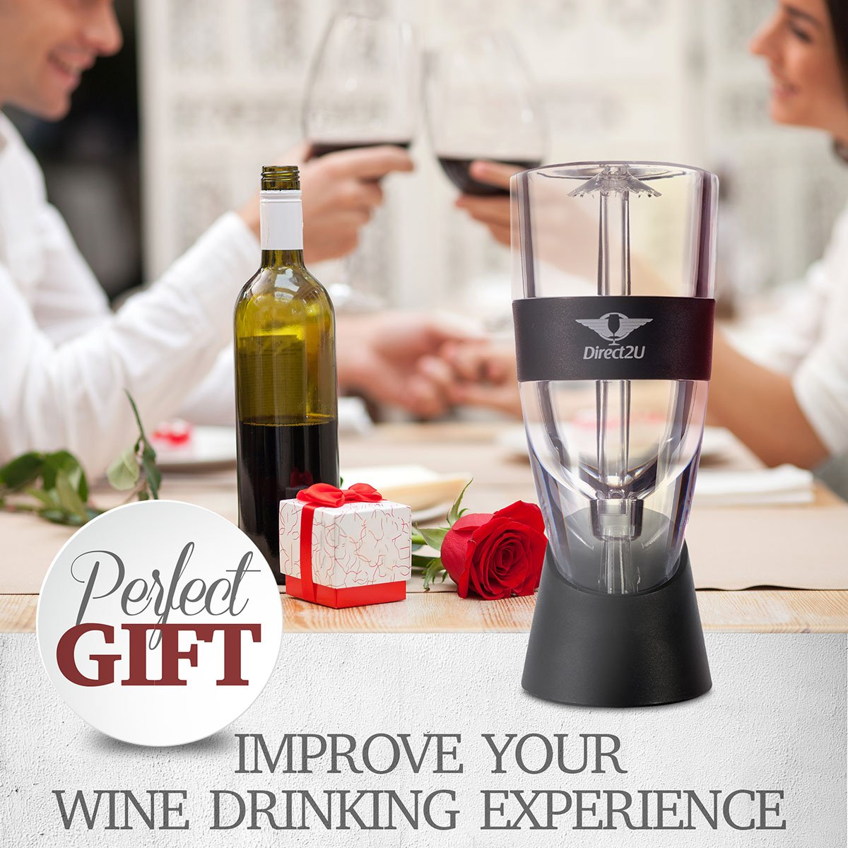 Wine Aerator Pourer, Decanter Filter, Air Diffuser - by Direct2U by Direct2U (Image #2)