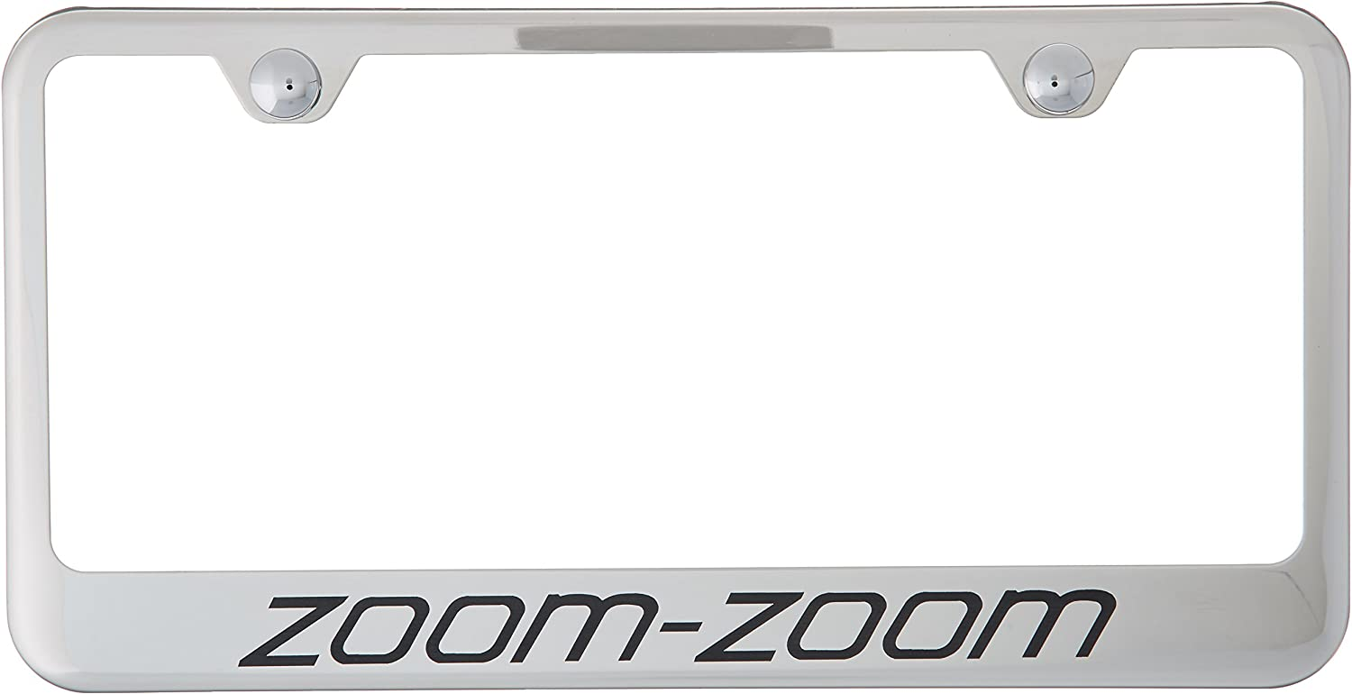 Mazda Zoom-Zoom Black Stainless Steel 50 States License Plate Frame