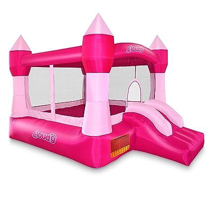 Amazon.com: Castillo rosa inflable sin ventilador Cloud 9 ...