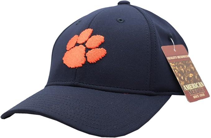 Amazon.com  Clemson Tigers Navy Blue Flex Fit Cap (Small)  Clothing a2c0dedca592