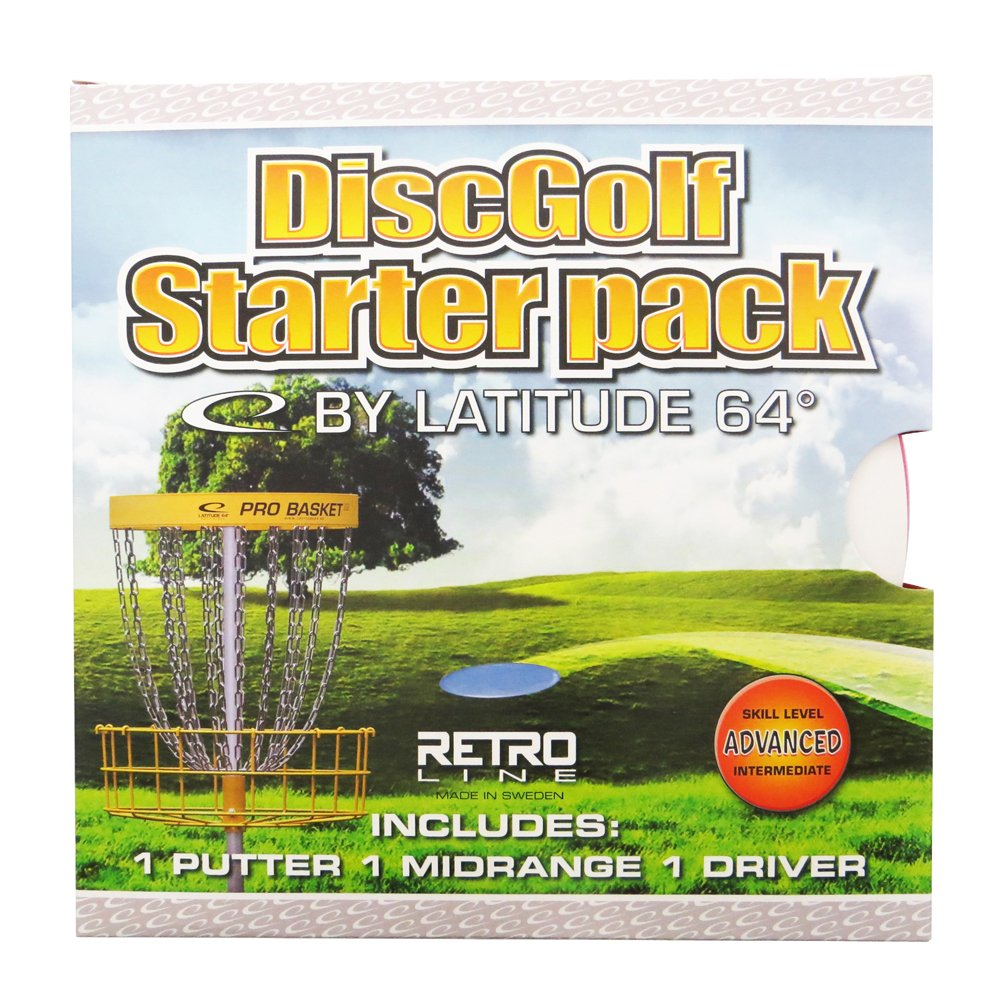 Latitude 64 Senior Retro Line Disc Golf Starter Set [Disc weights and colors may vary] by Latitude 64