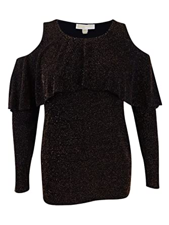 1c8f0d064937df Michael Kors Womens Cold Shoulder Pullover Sweater at Amazon Women's  Clothing store: