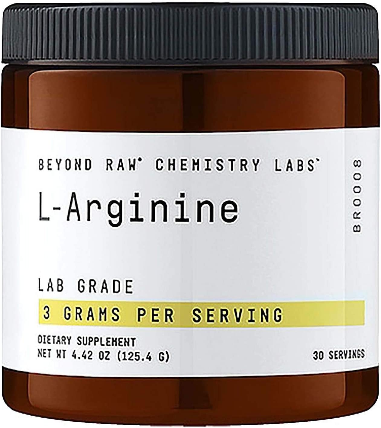 Beyond Raw Chemistry Labs L-Arginine, 30 Servings, Fuels Exercise and Supports Recovery 71e89dNOLAL