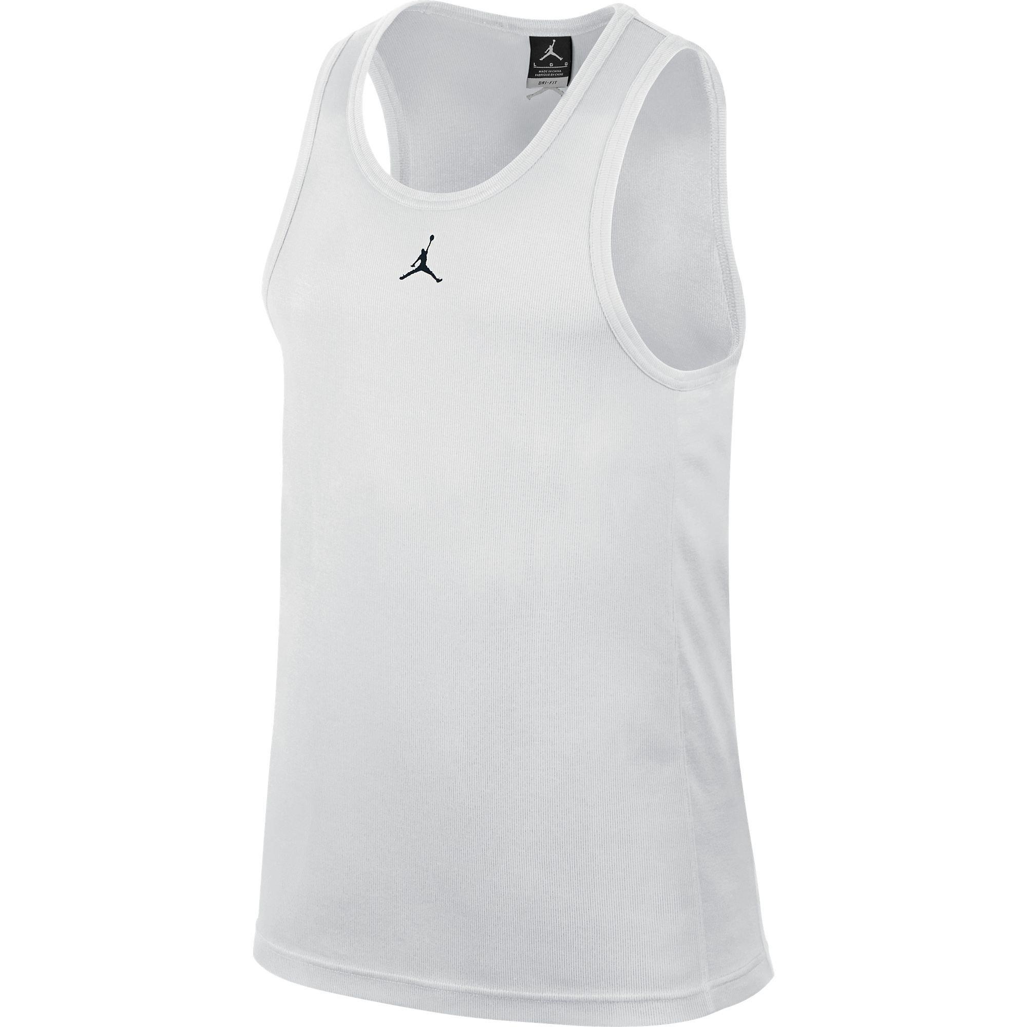 Jordan Buzzer Beater Men's Tank Top White/Black 589114-100 (Size XS)