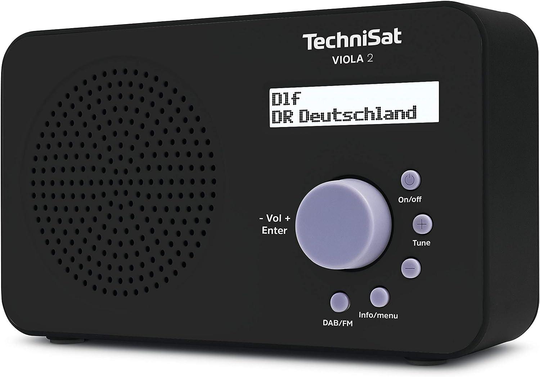 Technisat Viola 2 Tragbares Dab Radio Dab Ukw Lautsprecher Kopfhöreranschluss Zweizeiligem Display Tastensteuerung Klein 1 Watt Rms Schwarz Audio Hifi