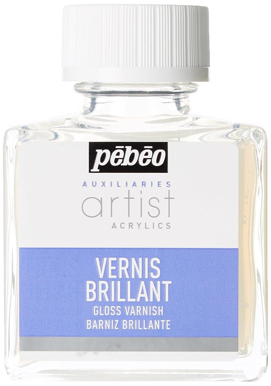 Pébéo Peinture Vernis Acrylique Brillant Phase Aqueuse 1 Flacon de 75 ml 520100