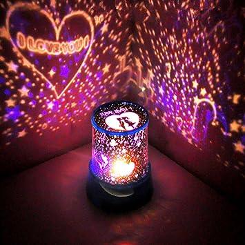 Weihnachtsgeschenke D.Gelory Abs Kunststoff Projektion Sterne Nacht Projektion Licht 360