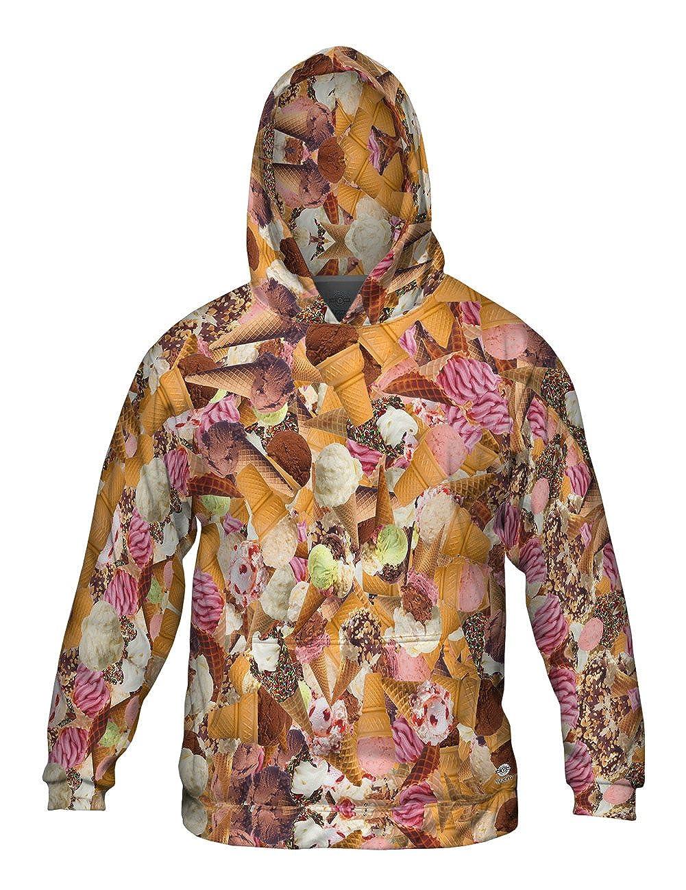 Mens Hoodie Sweater Ice Cream Cone Boogy Jumbo Yizzam Allover Print