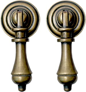 Nesha Cudgel Tear Drop Cabinet Pulls Set of 2  sc 1 st  Amazon.com & Cabinet Pull Antique Cabinet Pulls Knob Drop Antique Bronze Dresser ...