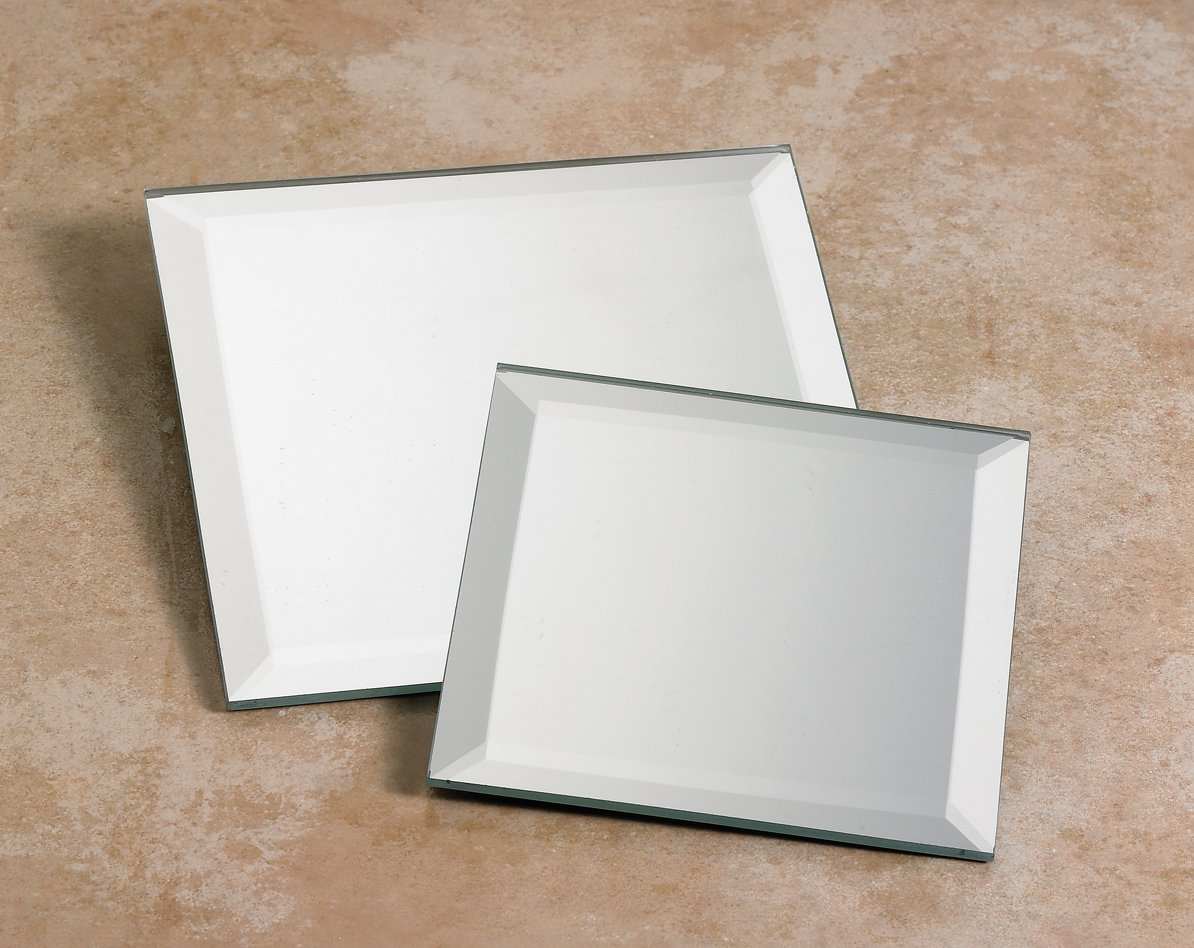 Rectangle Beveled Mirror Tiles Outstanding Small Beveled