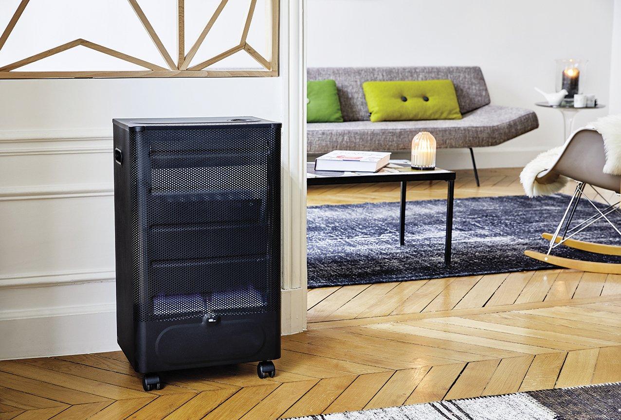 Favex 8591600 Praha Blue Flame Calefactor de de Gas Llama Negro/Azul 40 x 29 x 70 cm: Amazon.es: Jardín