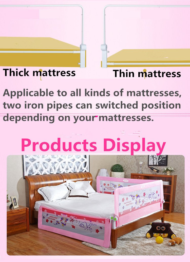 DW BI Portable foldable Bed rail Bed Guard Protection Safety Infant Child Brown Shopping Genie Ltd
