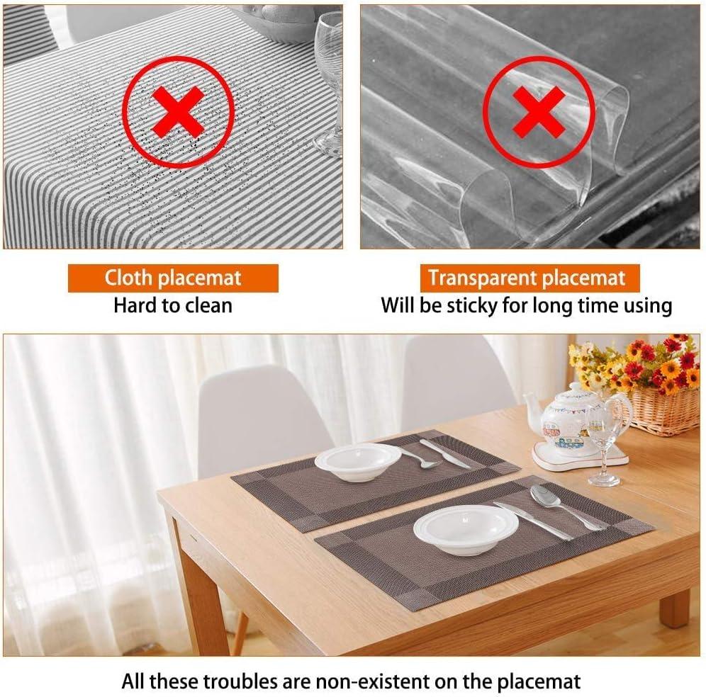 Tovagliette Non-scivolose Resistenti al Calore Set da 6 Tovagliette per Tavolo da Cucina Winzwon Tovagliette Americane Lavabili Plastica