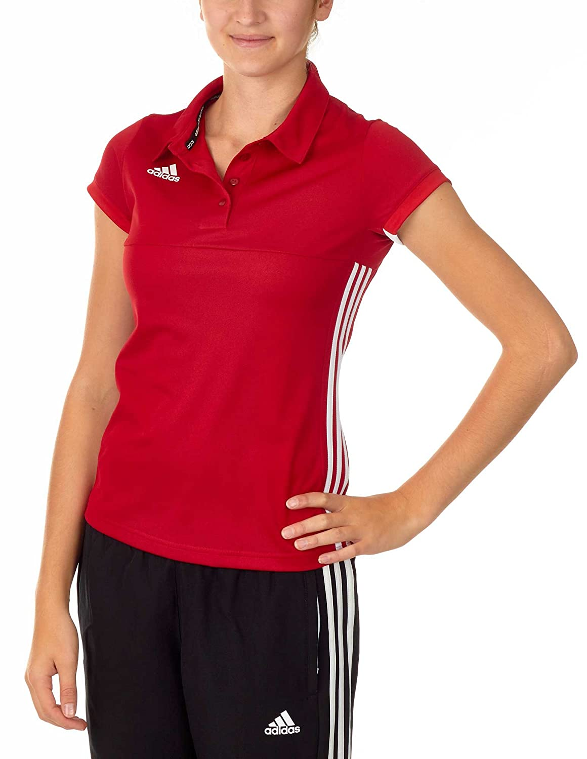 MultiCouleure - Power rouge blanc XS adidas T16 Team Polo W