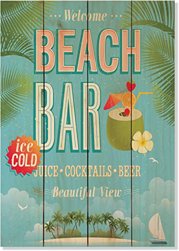 "Wile E. Wood ""Beach Bar Wall Art"