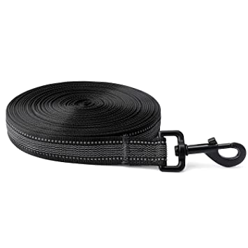 Toozey Dog Recall Lead, 10 m/20 m, Rubberised Recall Lead, Storage