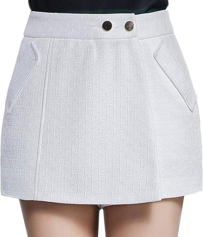 E-Girl - Falda - para Mujer Blanco 34: Amazon.es: Ropa y accesorios
