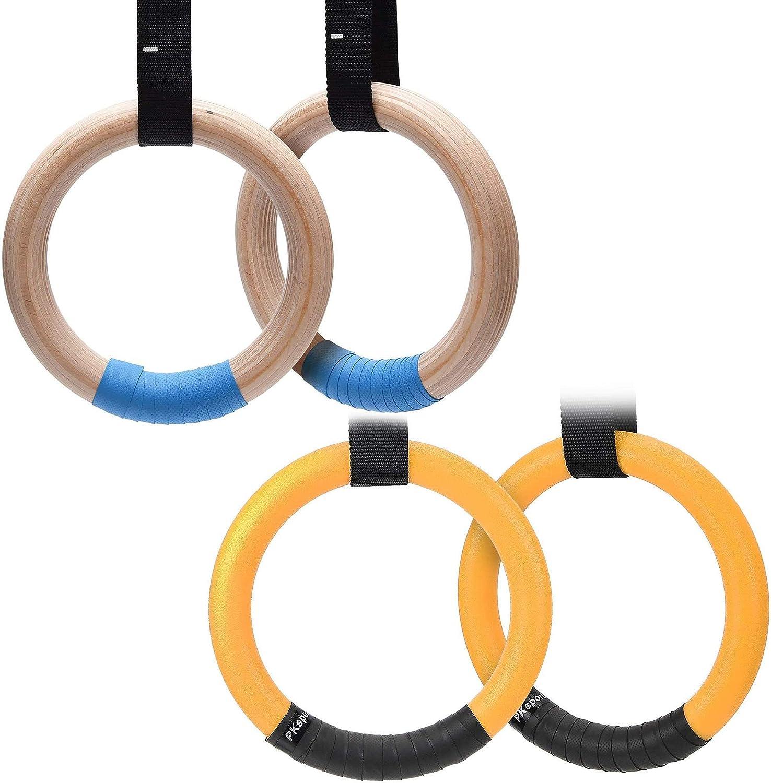 1 set 28mm Wood Gymnastic Rings Gym Rings Adjustable Long Buckles Straps