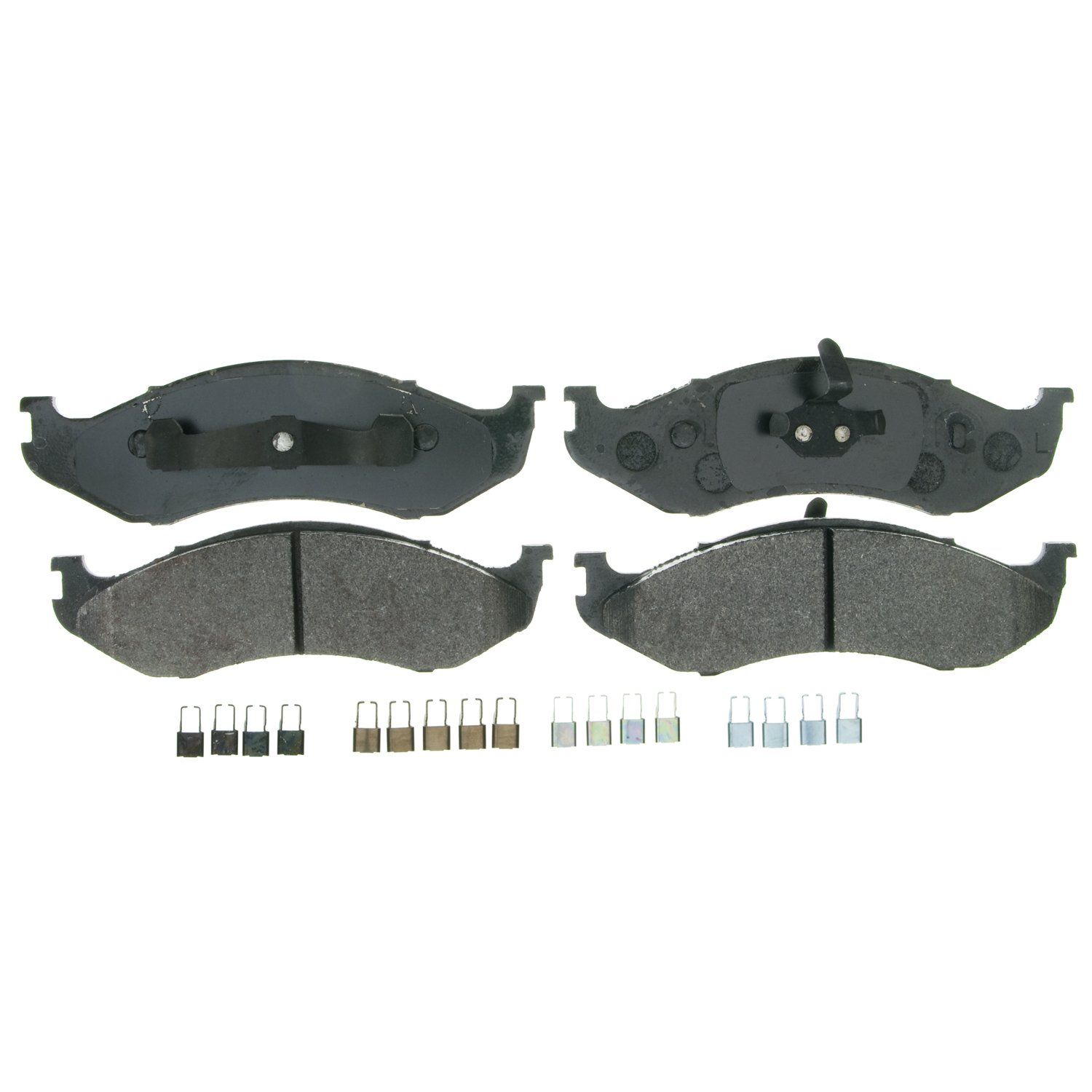 Front Wagner Brake Wagner QuickStop ZX477 Semi-Metallic Disc Pad Set Includes Pad Installation Hardware