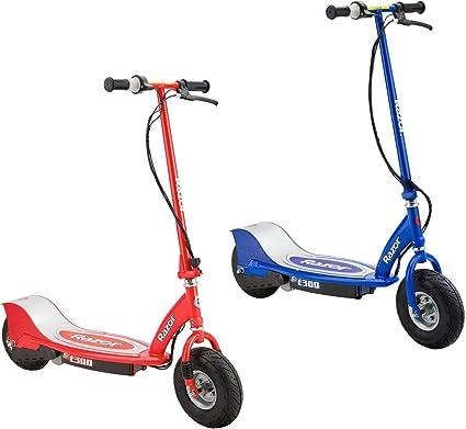 Razor E300 Patinetes Eléctricos Recargables Para Niños 1 Rojo Y 1 Azul Sports Outdoors