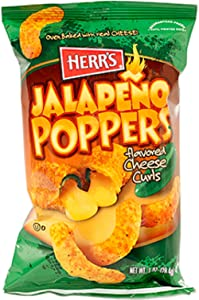 Herr's - JALAPENO POPPER CHEESE CURLS, Pack of 42 bags