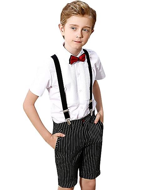 ELPA ELPA - Chaqueta de Traje - para niño White&Black 4 ...