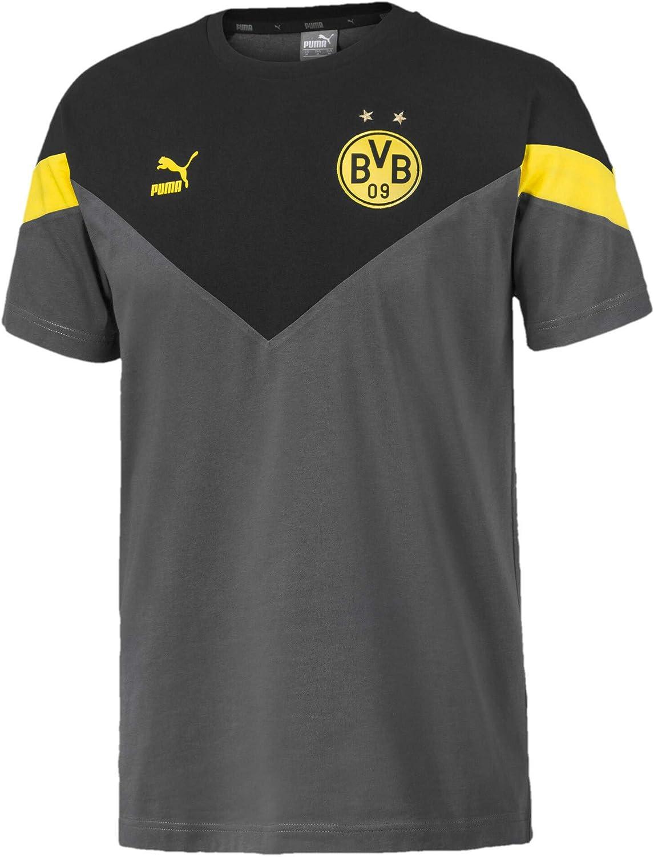 PUMA BVB Iconic MCS tee - Camiseta Hombre: Amazon.es: Deportes y ...