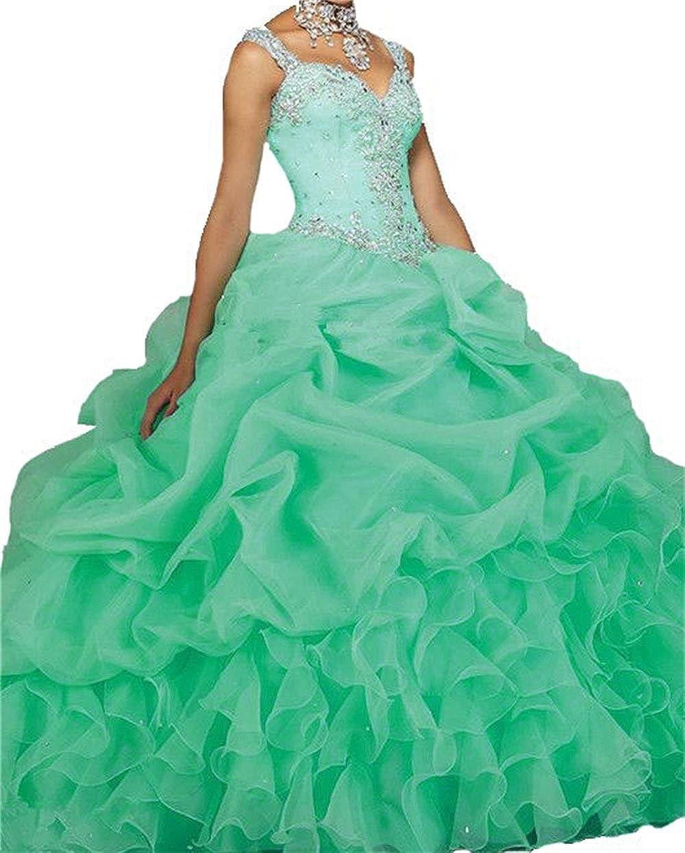 Amazon.com: Dydsz Women\'s Quinceanera Dresses 2019 Ball Gown Sweet ...