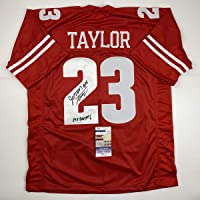 $199 » Autographed/Signed Jonathan Taylor Inscribed Wisconsin Red College Football Jersey JSA COA