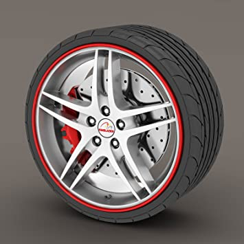 Perfect Honda Civic Red Rimblades Alloy Wheel Edge Ring Rim Protectors Tyres Tire  Guard Rubber Moulding
