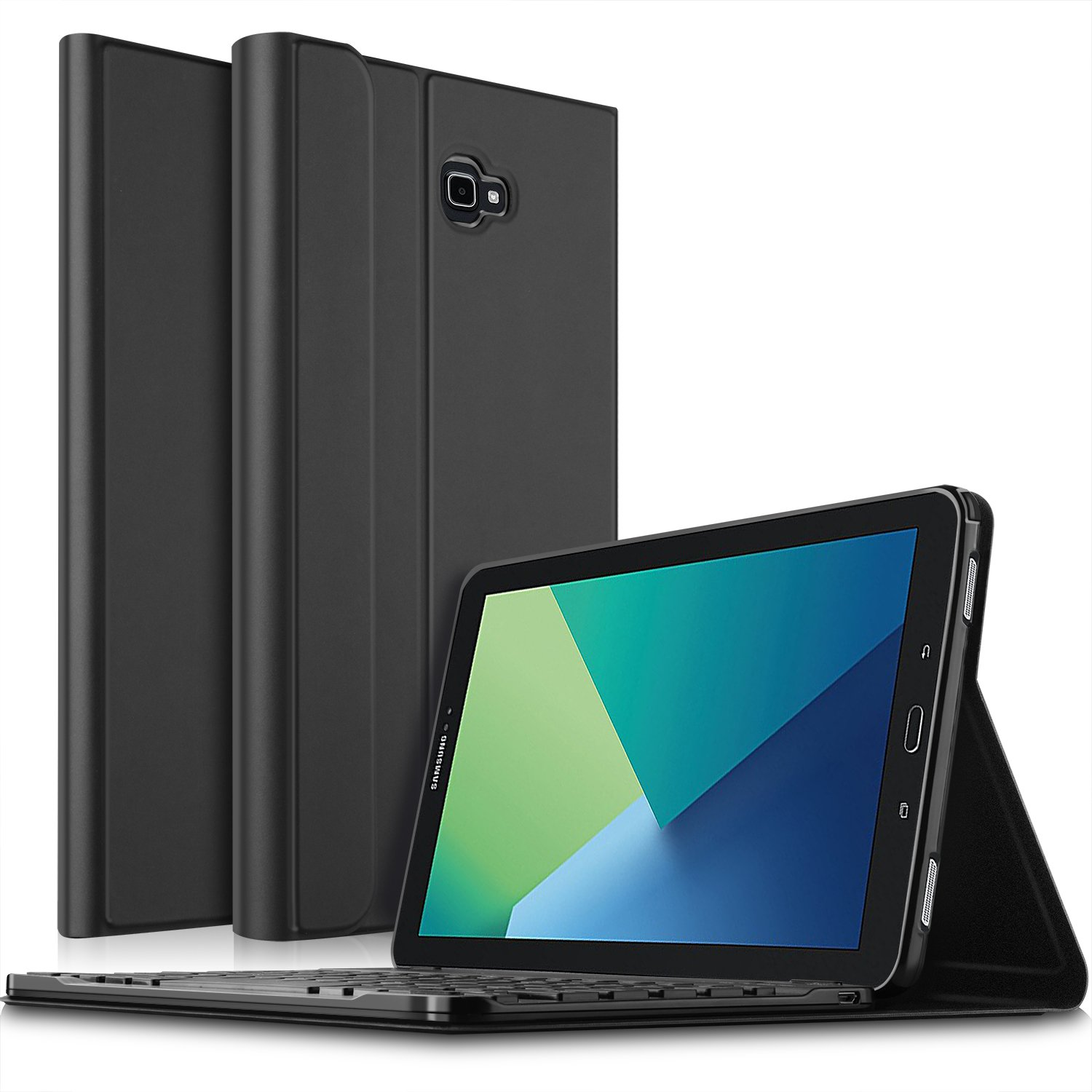 IVSO Samsung Galaxy Tab A 10.1 P580 Case with Keyboard - Ultra-Thin Detachable Wireless Keyboard Front Prop Stand Case/Cover for Samsung Galaxy Tab A 10.1 with S Pen P580 Tablet (Black)