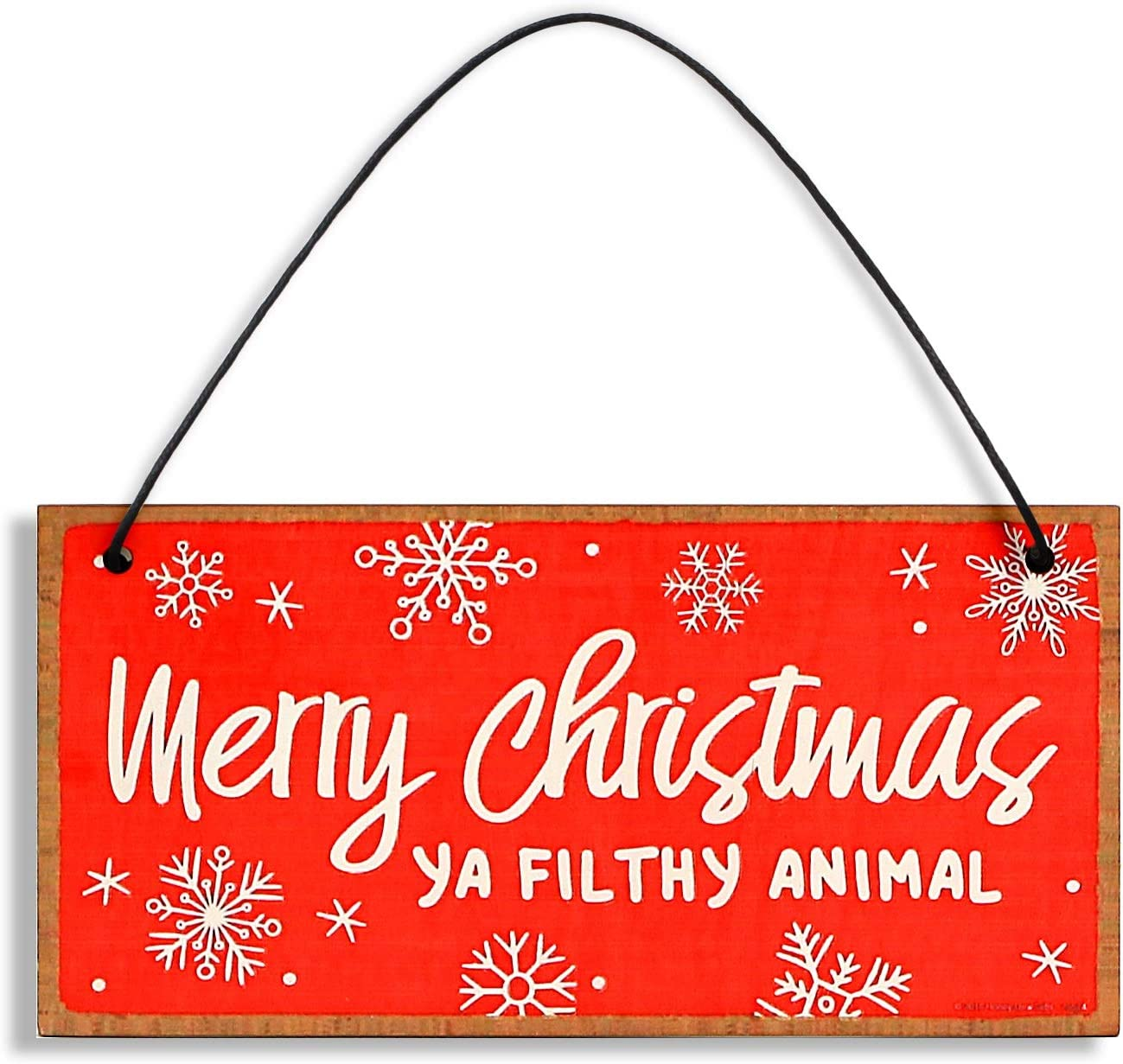 Funny Merry Christmas Wood Plaque 20x10 cm Door Hanging Decor Garden Wall Plaque Xmas Decor