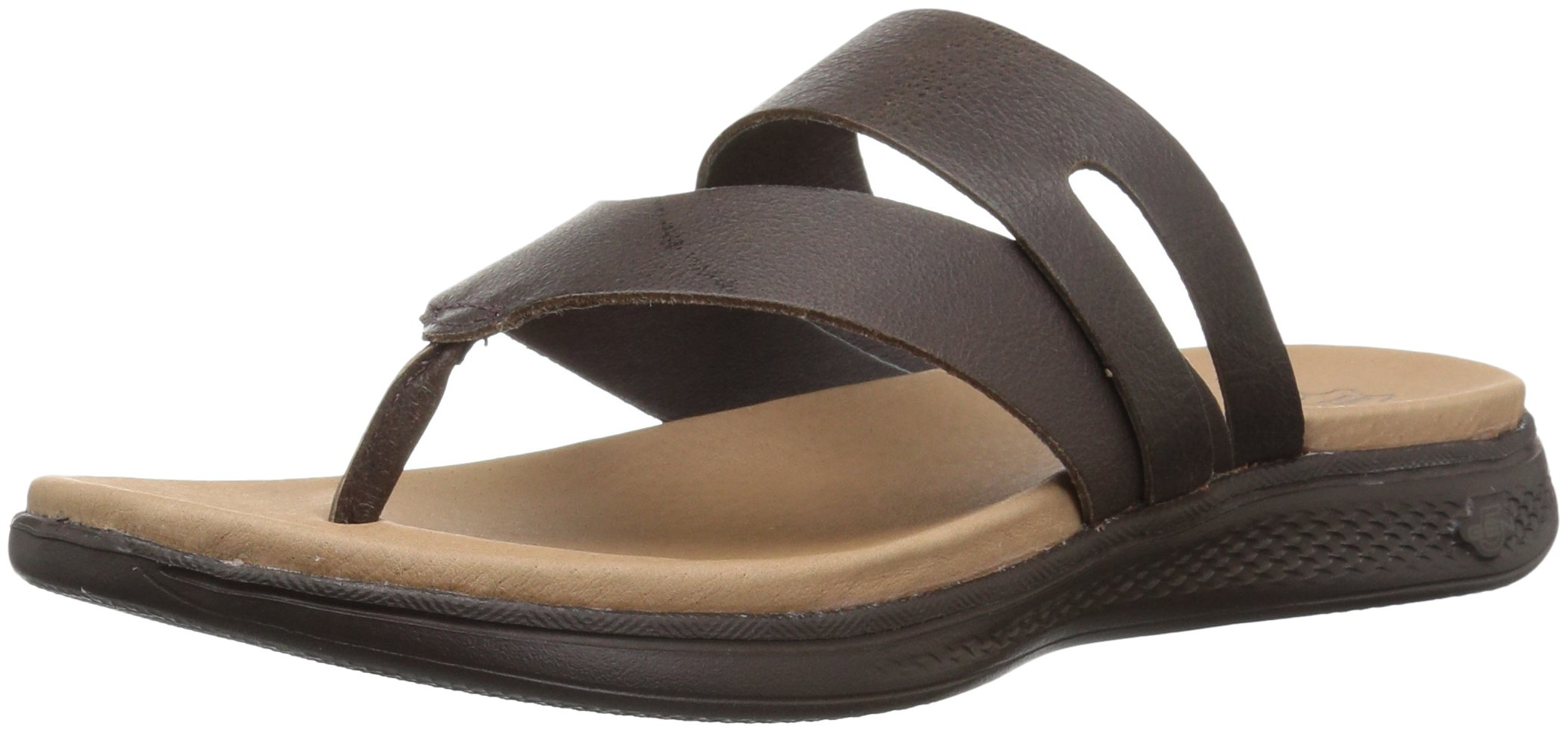 Skechers Performance Women's Luxe Collection-15320 Flip-Flop, Brown, 7 M US