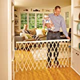 """""""Expandable Swing Gate"""" by North States: Equipped with a safety rail which adjusts automatically when the gate expands. Hardware mount. Fits openings 24"""" to 60"""" wide (32"""" tall, Natural wood)"""