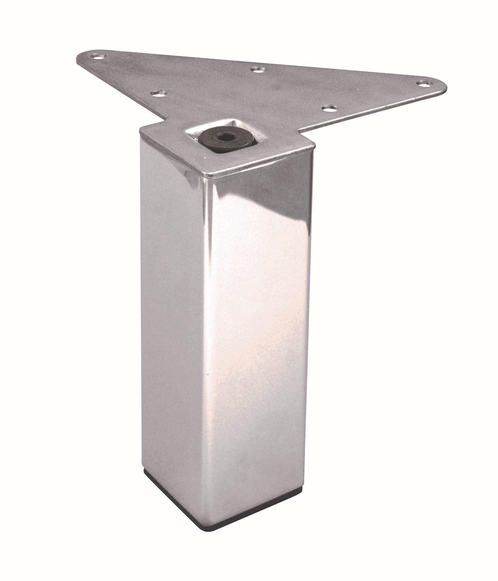 Richelieu Hardware - 555150170 - Box of 4 - Adjustable Furniture Leg - 555 - 22 mm (3/4 Inch) adjustment - Stainless Steel  Finish