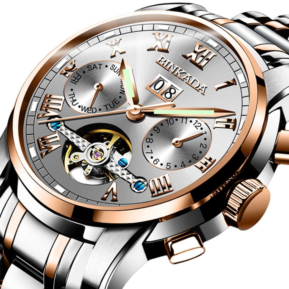 メンズスケルトン防水時計/自動Mechanical Watches/Man With A光watch-e B06XCW16ZV