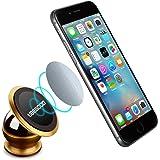 Supporto Auto , Ubegood Metallo Supporto Cellulare [360° Girevole] Auto Magnetico Porta Cellulare per iPhone 6 / 6s / 6 plus / 6s Plus / Sony / Galaxy S6 / Note 5 / LG /Nexus ecc.- Dorato