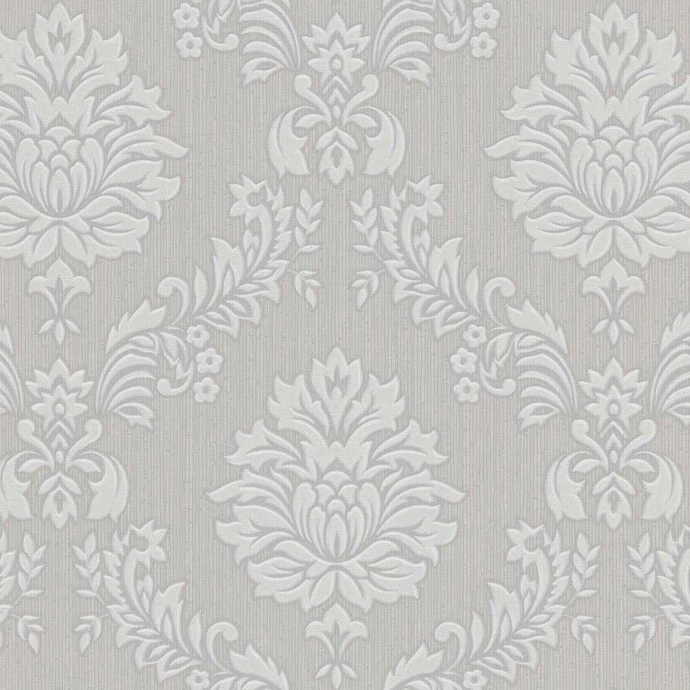 SALE Graham Brown Costello Damask Grey White Wallpaper Was 20