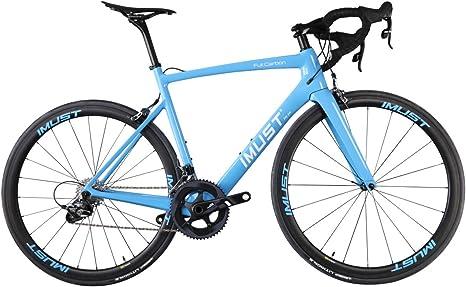 IMUST Superlight Carbono Carretera Bicicleta 700 C velocidades de SRAM Force 22 Naranja/Azul: Amazon.es: Deportes y aire libre